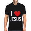 I LOVE JESUS Mens Polo