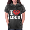 I Love Loud Womens Polo