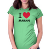 i love maman Womens Fitted T-Shirt