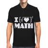 I Love Math Mens Polo