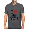 i love me with you by wam Mens Polo