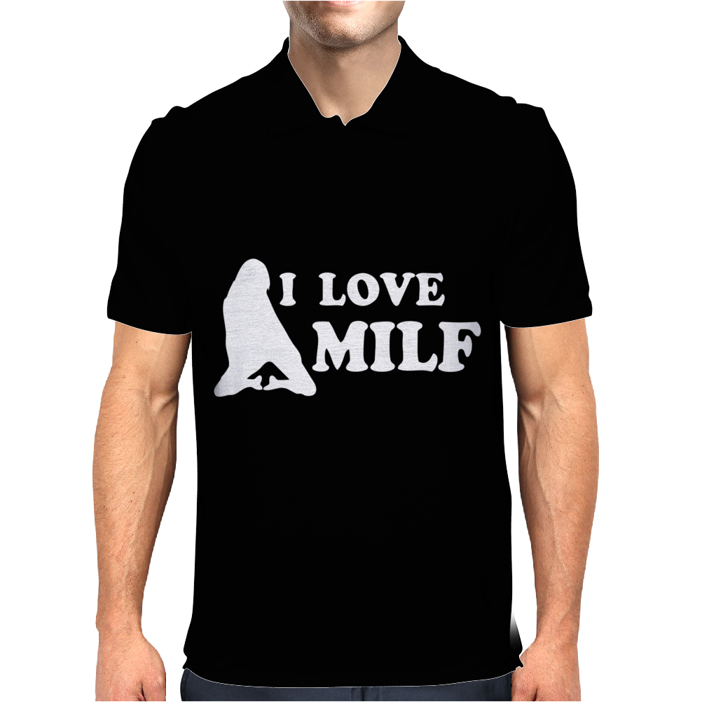 I LOVE MILF Mens Polo