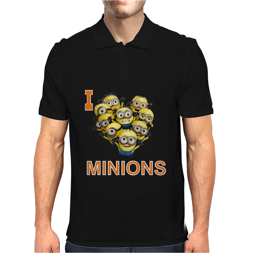 I LOVE MINIONS Mens Polo