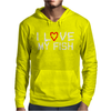 I Love My Fish Mens Hoodie