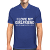I LOVE MY GIRLFRIEND FUNNY Mens Polo