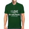 I Love My Girlfriend Mens Polo