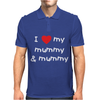 I Love My Mummy & Mummy Baby Mens Polo