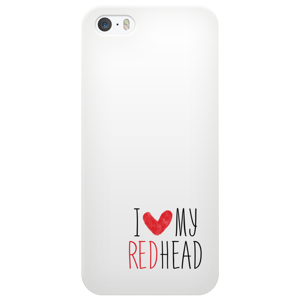 I Love My Red Head Phone Case