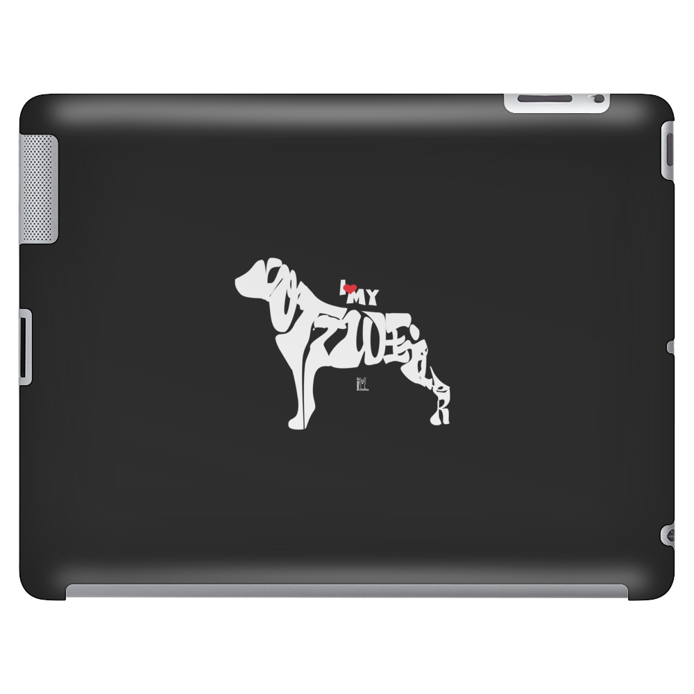 I Love my Rottweiler Tablet (horizontal)