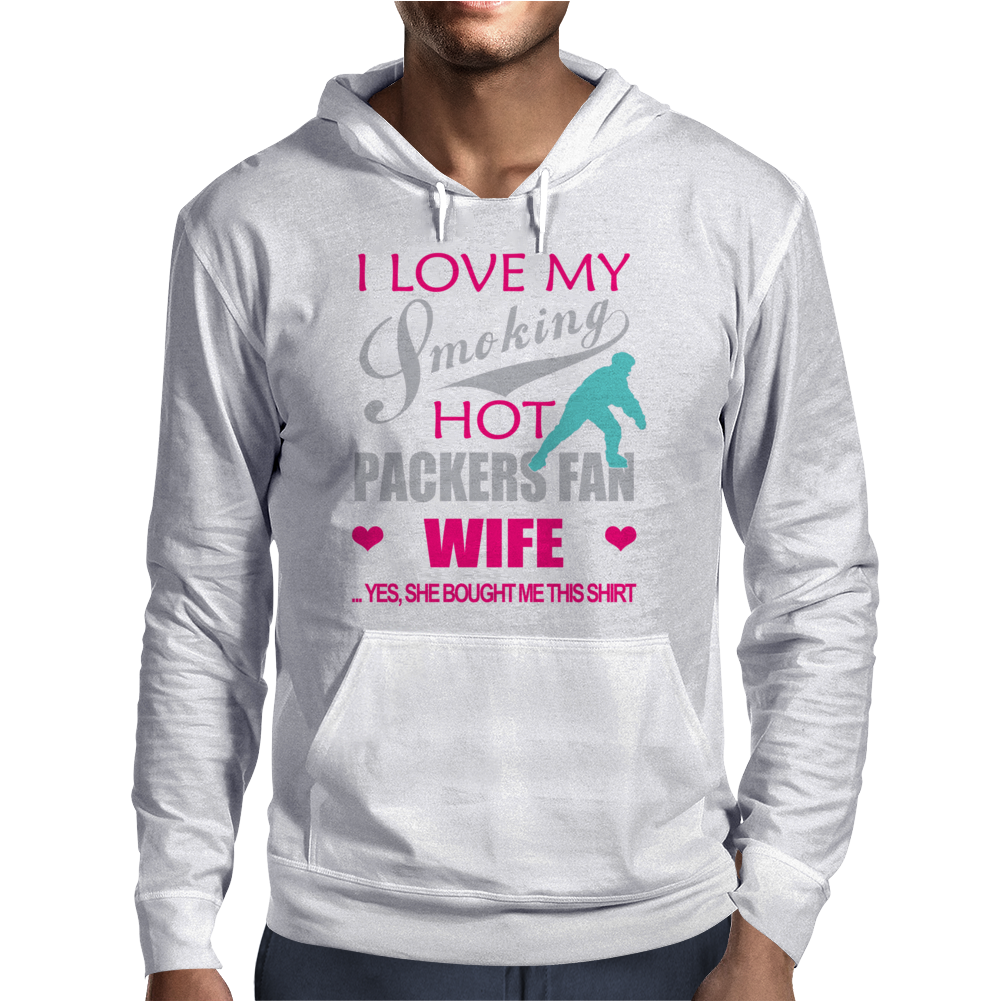 I Love My Smoking hot packers fan wife Mens Hoodie