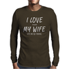 I Love My Wife ~ Mens Funny Fishing Mens Long Sleeve T-Shirt