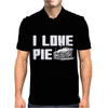 I Love Pie Mens Polo