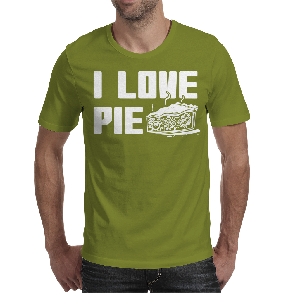 I Love Pie Mens T-Shirt