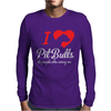 I Love Pitbulls Its People That Annoy Me Mens Long Sleeve T-Shirt