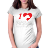 I Love Pitbulls Its People That Annoy Me Womens Fitted T-Shirt