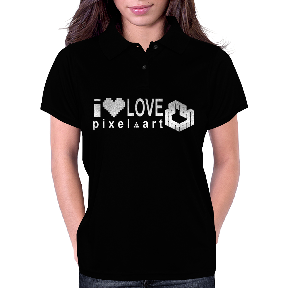 I Love Pixel Womens Polo