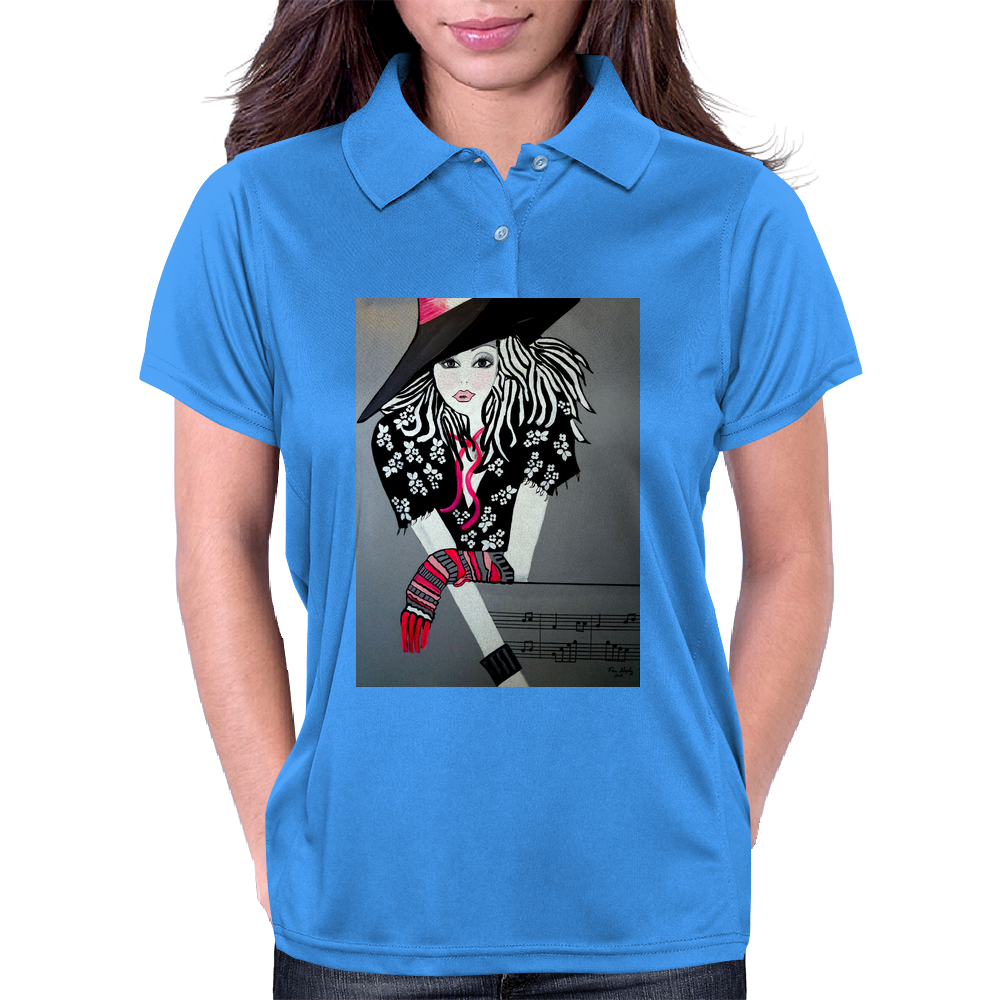 I LOVE  ROCK AND ROLL Womens Polo
