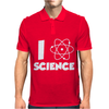 I Love Science Mens Polo
