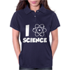 I Love Science Womens Polo