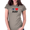 I Love Sleep Womens Fitted T-Shirt