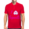 I Love Squats Gym Mens Polo