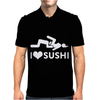 I Love Sushi Funny Mens Polo