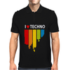I love Techno Music Mens Polo