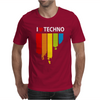 I love Techno Music Mens T-Shirt