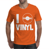 I Love Vinyl Mens T-Shirt