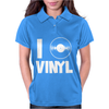 I Love Vinyl Womens Polo