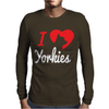 I Love Yorkies Dogs Mens Long Sleeve T-Shirt