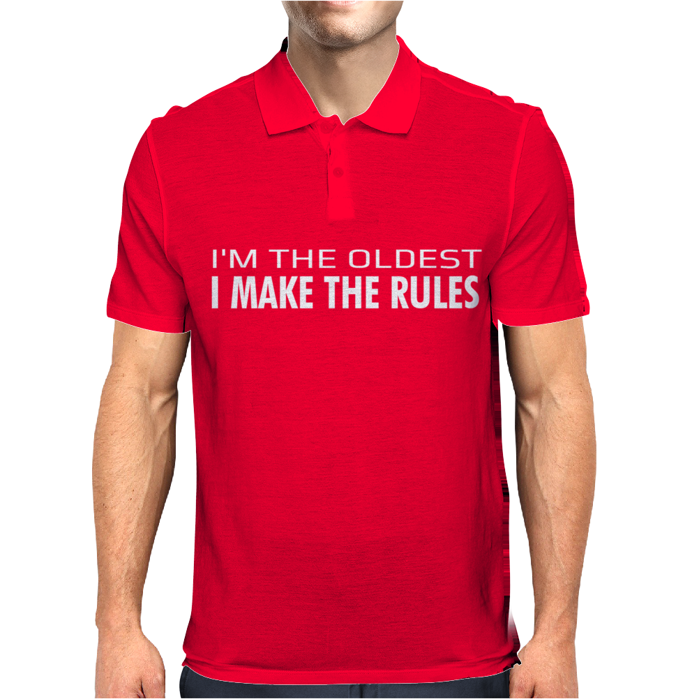 I MAKE THE RULES Mens Polo