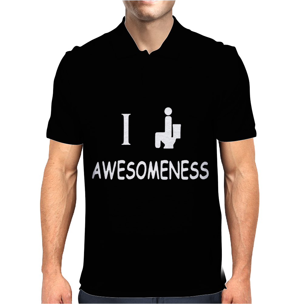 I Poop Awesomeness Mens Polo