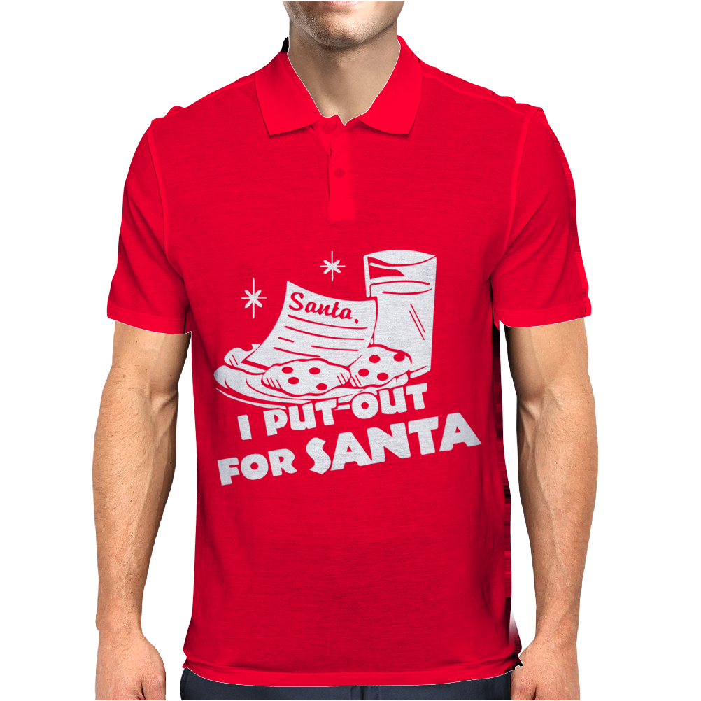 I PUT OUT For Santa Mens Polo