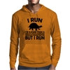 I run. I'm slower than a herd of turtles stampeding through peanut butter, BUT I RUN Mens Hoodie