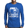I Shoot People White Camera Mens Long Sleeve T-Shirt