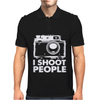 I Shoot People White Camera Mens Polo