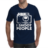 I Shoot People White Camera Mens T-Shirt