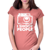 I Shoot People White Camera Womens Fitted T-Shirt