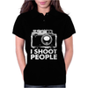 I Shoot People White Camera Womens Polo