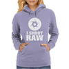 I Shoot Raw Fotografie Womens Hoodie