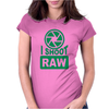 I Shoot Raw Photography Camera Photograph Womens Fitted T-Shirt