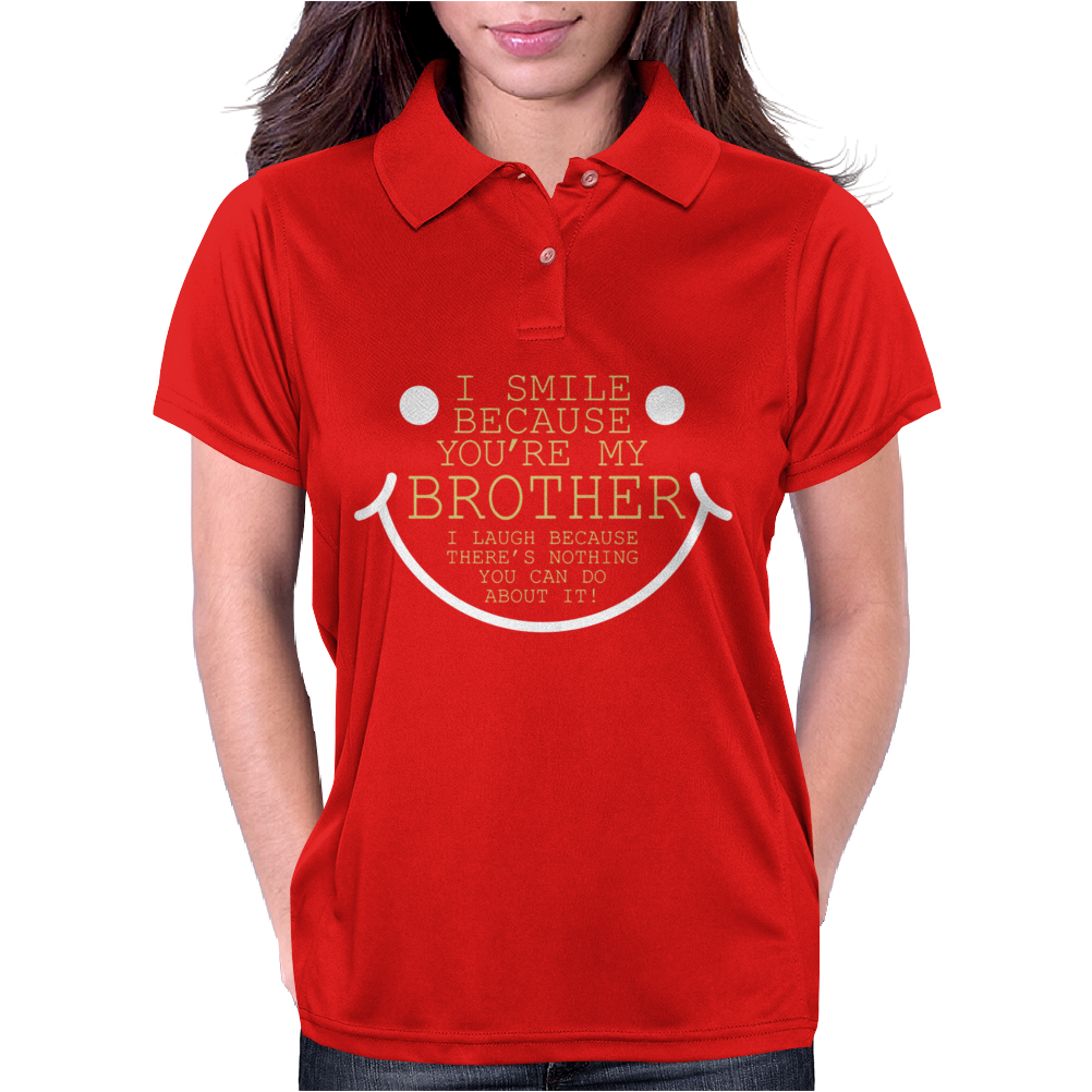 I Smile 'Cause Brother Womens Polo