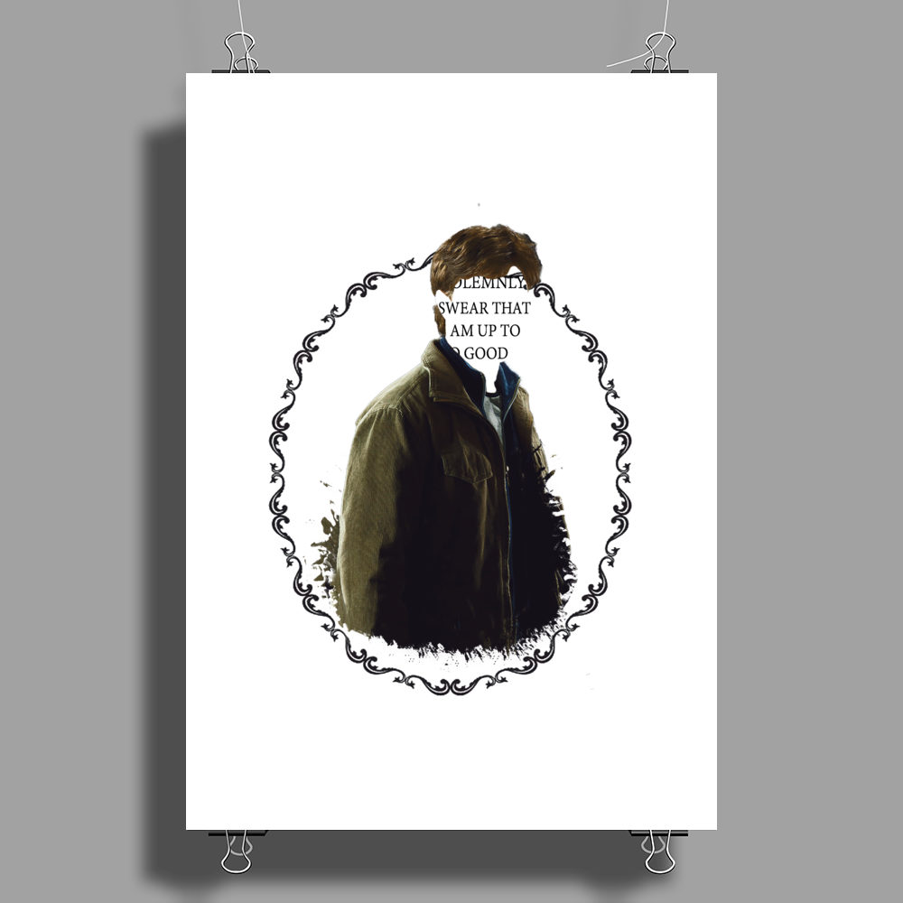 I solemnly swear that I am up to no good Poster Print (Portrait)