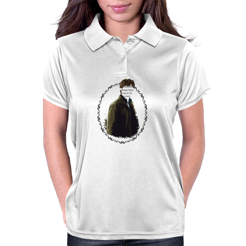 I solemnly swear that I am up to no good Womens Polo