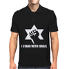 I Stand with Israel Mens Polo
