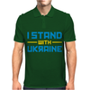 I Stand with Ukraine Mens Polo