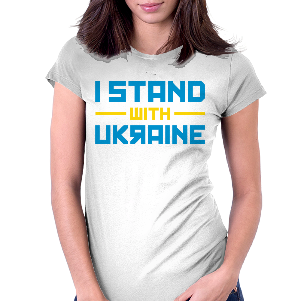 I Stand with Ukraine Womens Fitted T-Shirt