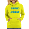 I Stand with Ukraine Womens Hoodie
