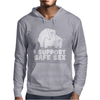 I support safe sex Mens Hoodie